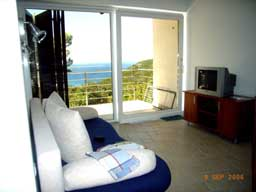 Apartment Stivan Island Cres lounge sea view