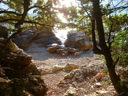 Island Cres Honeymoon beach under Stivan, easy 10 min walk from Marascica