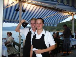 "Restaurant ""Na moru"" (By the sea), Valun, Cres, Croatia - friendly waitresses"