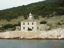 Croatia island Cres - lighthouse - between Porozina and Cres