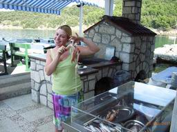 "Fresh local seafood with long tradition at restaurant ""Na moru"""