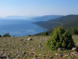Croatia island Cres - bay of Valun, view from Batajne